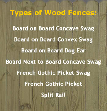 Wood Fencing Types and Services, WI